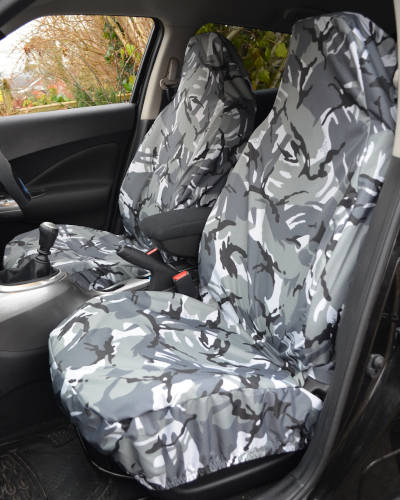 Camouflage Grey Seat Covers