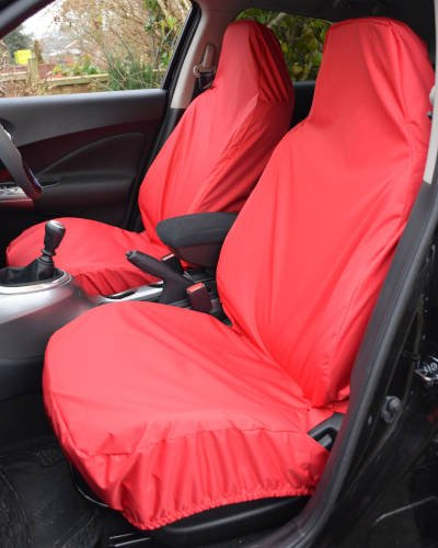 Waterproof Front Seat Covers in Red