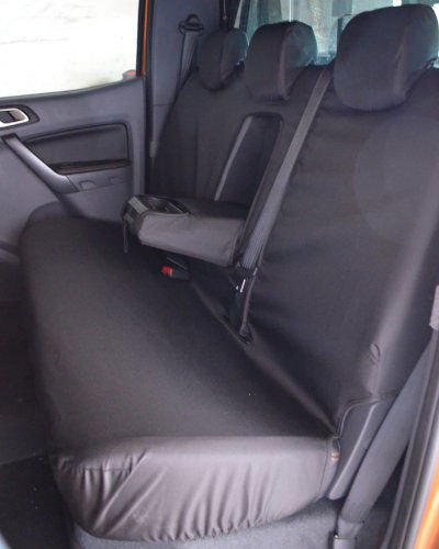 Ford Ranger Rear Seat Covers in Black 2012