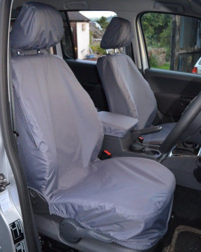 Grey Front Seat Covers for VW Amarok 2010-2016 model