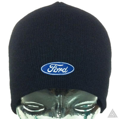 Black Beanie Hat with Ford logo