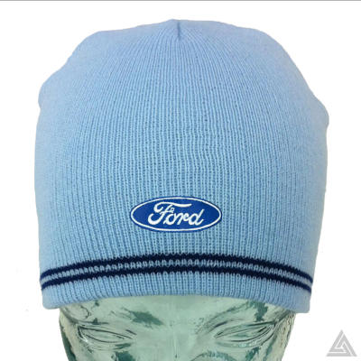 Light Blue Beanie with Ford logo
