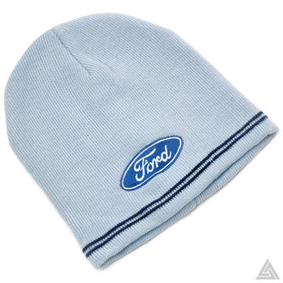 Ford Beanie Hat in Light Blue