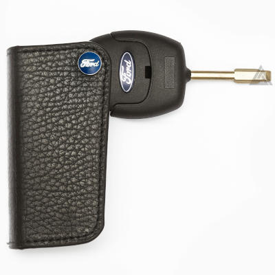 Ford Key Case in Black Leather