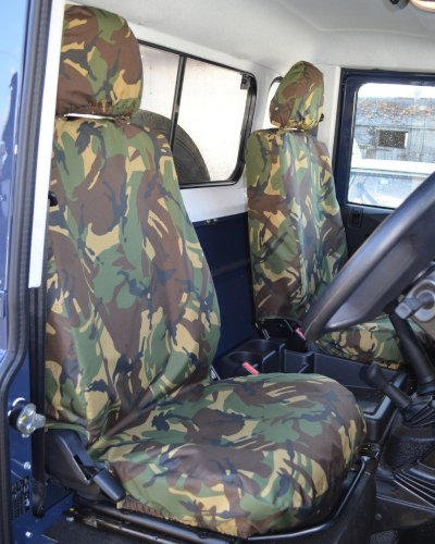 Land Rover Defender Seat Covers in Camouflage