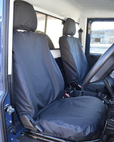 Land Rover Defender Seat Covers in Black