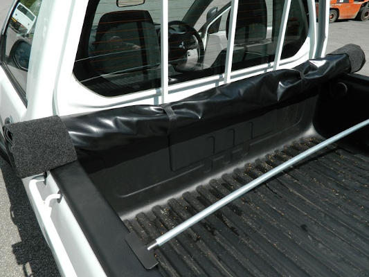Load bed cover for single cab pickup truck