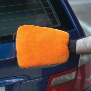 Microfibre Wash Mitt – Double Sided with Bug Remover