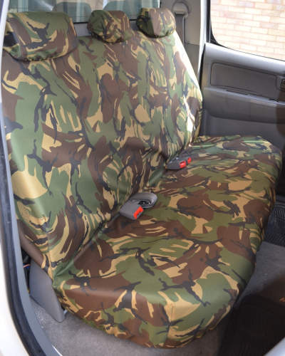 Seat Covers for Toyota Hilux Mk7 Double Cab - Green Camo