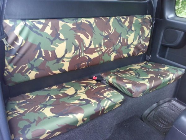 Rear Seat Covers for Toyota Hilux Mk7 King Cab - Green Camo