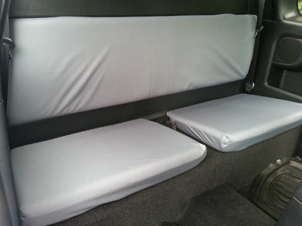 Grey Seat Covers for Toyota Hilux Mk7 Super Cab