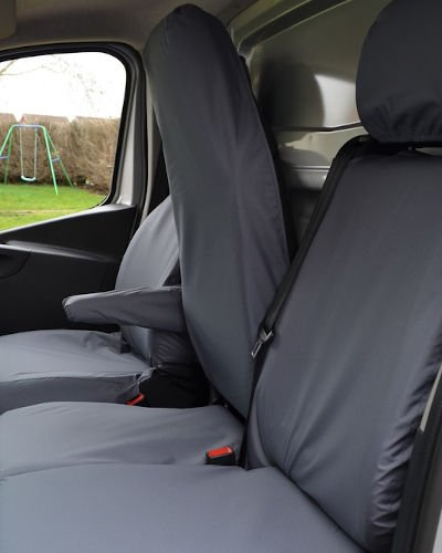 Renault Trafic Seat Covers - Fold Flat Middle Seat