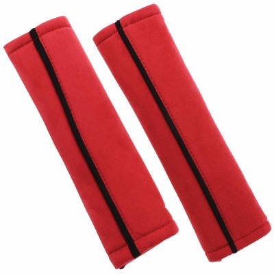 Red Seat Belt Pads