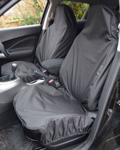 Front Seat Covers for Nissan Qashqai - Black