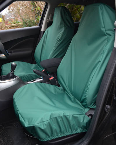 Navara Front Seat Covers - Green