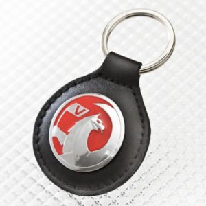 Real Leather Key Ring with Vauxhall Griffin