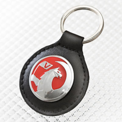 Vauxhall Key Ring with Black Leather Fob