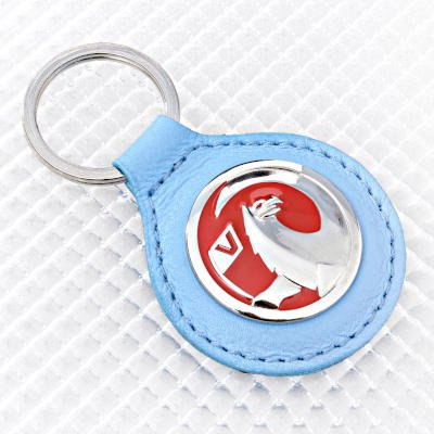 Vauxhall Key Ring - Blue Leather Fob