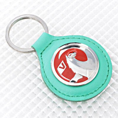 Vauxhall Key Ring - Green Leather Fob