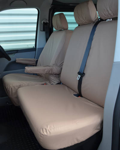 VW Transporter Seat Covers - Beige or Cream