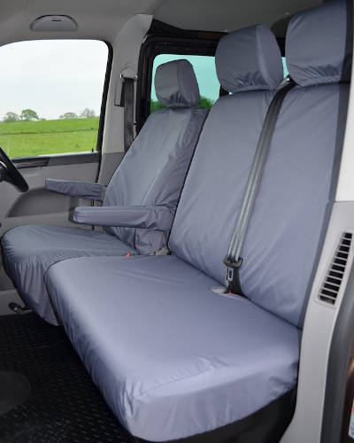 VW Transporter Seat Covers in Grey