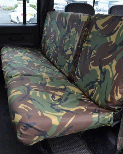Defender Rear Seat Covers - Army Camo