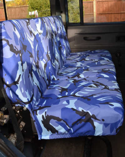 Defender 110 Rear Seat Covers - Blue Camo