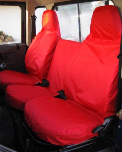 Land Rover Defender Red Seat Covers