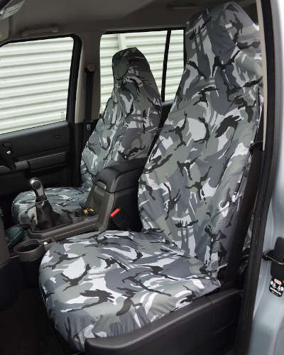 Discovery 3 Seat Covers in Grey Camo