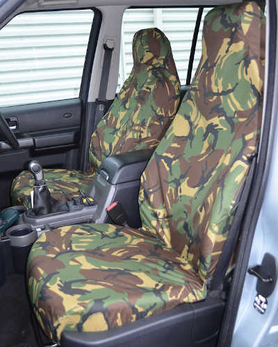 Discovery 3 Seat Covers in Green Camouflage