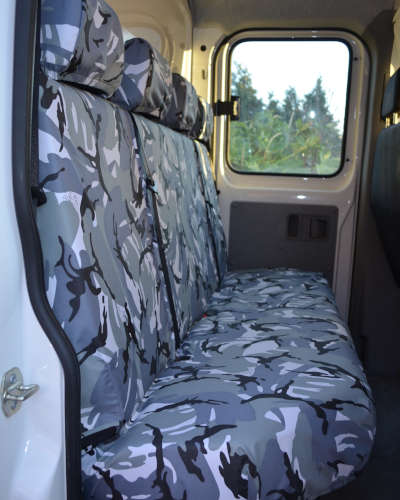 Camo Rear Seat Covers for Mercedes Sprinter