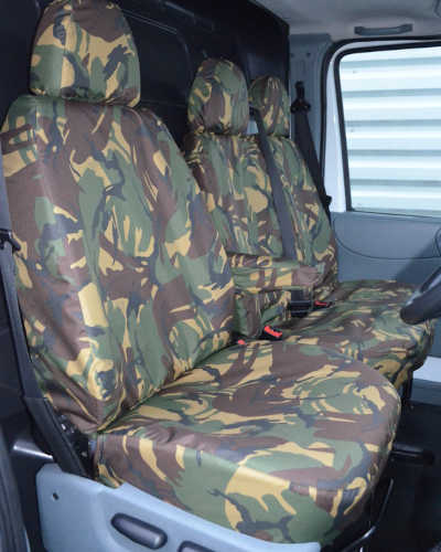 Ford Transit Seat Covers in Green Camo