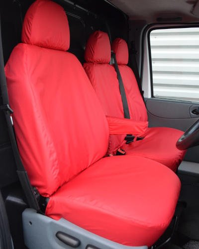 Ford Transit Van Red Seat Covers