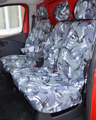 Camo Seat Covers - Vauxhall Vivaro Van